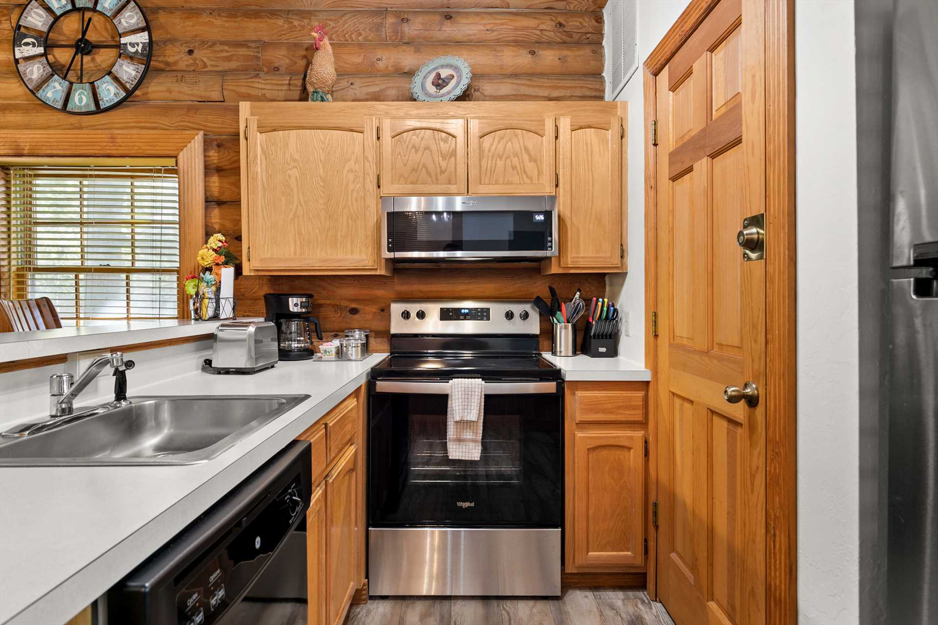 All of the appliances in this cabin have been updated.