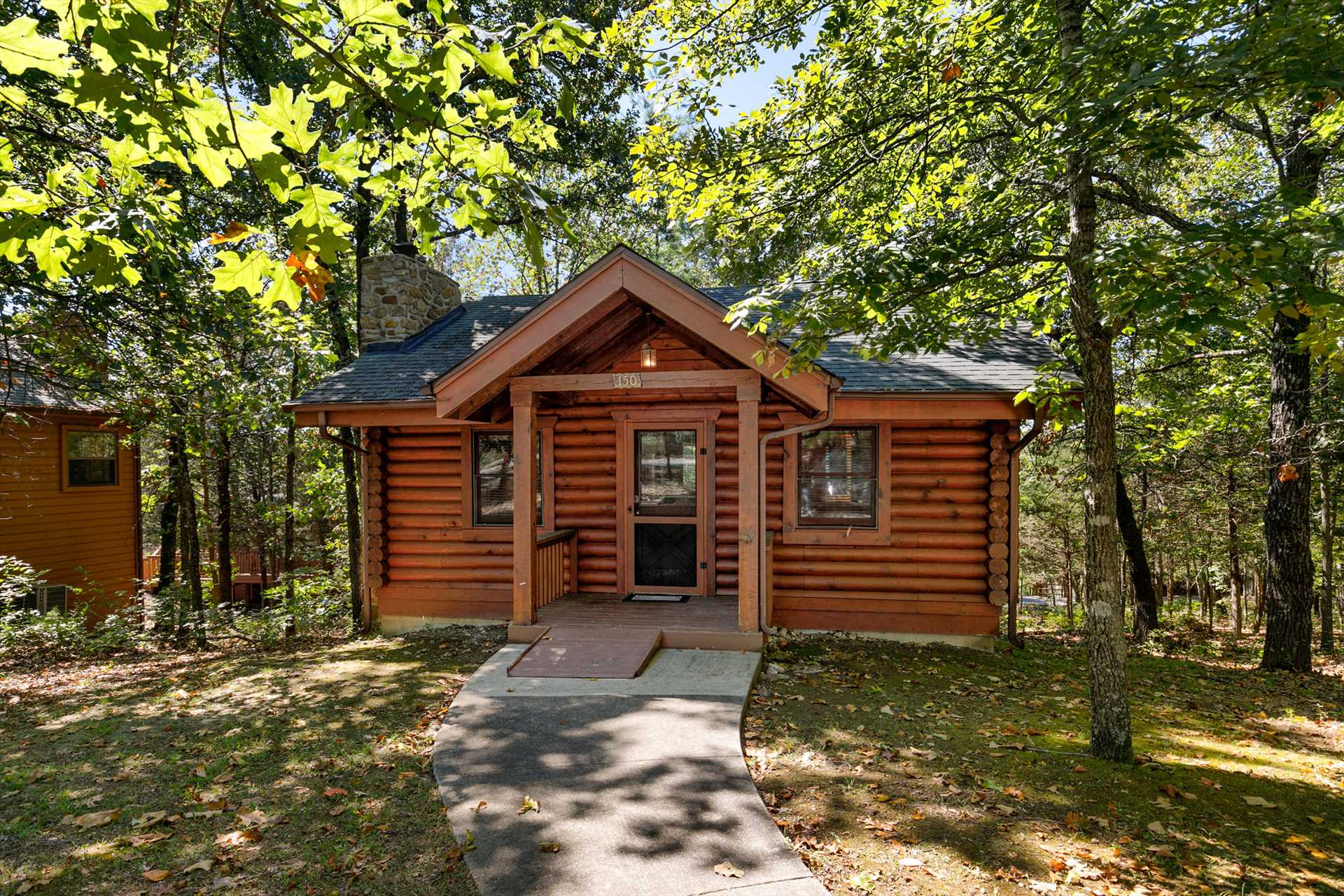 This stand alone cabin is located in Branson Woods Resort.