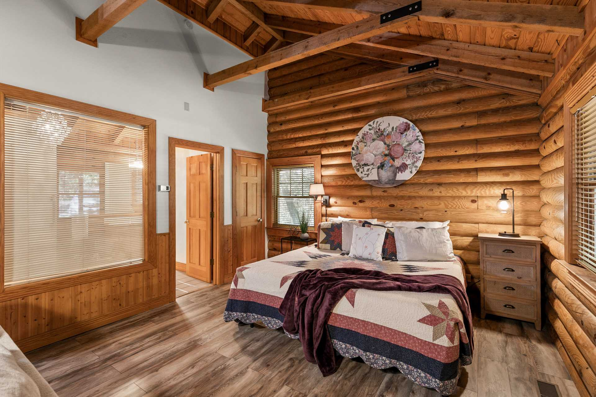 The cabin is full of natural light.