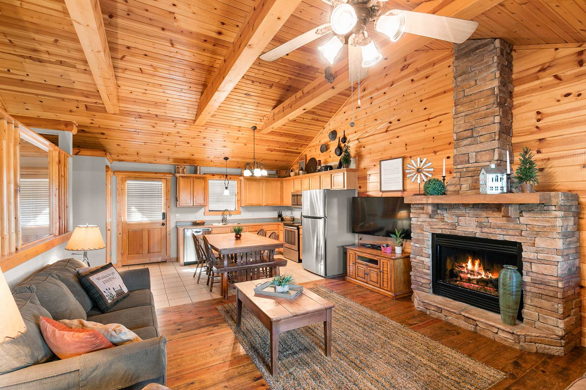 The open floor plan gives the whole family plenty of room to
