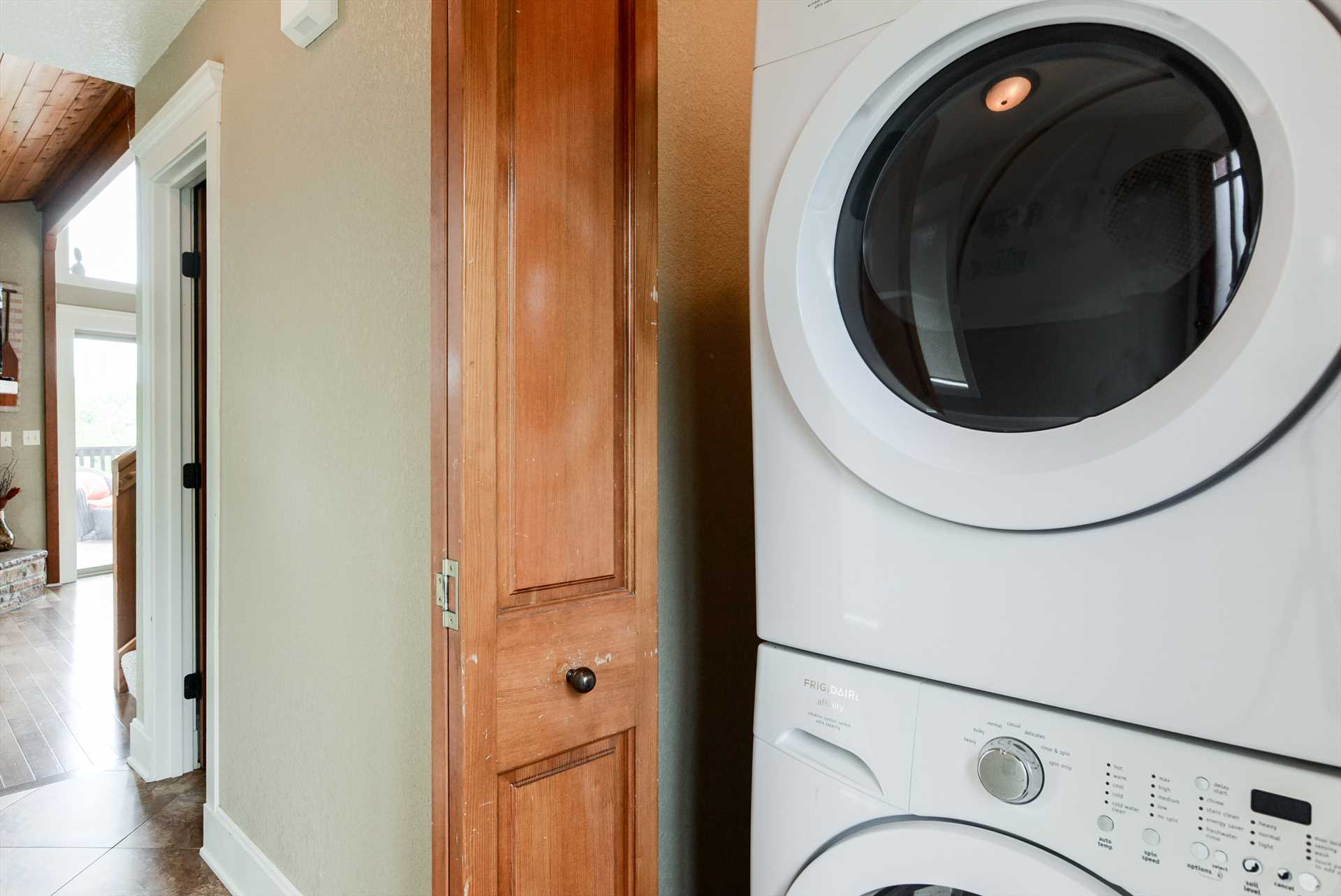 Laundry doesn't take a vacation - good thing this property i
