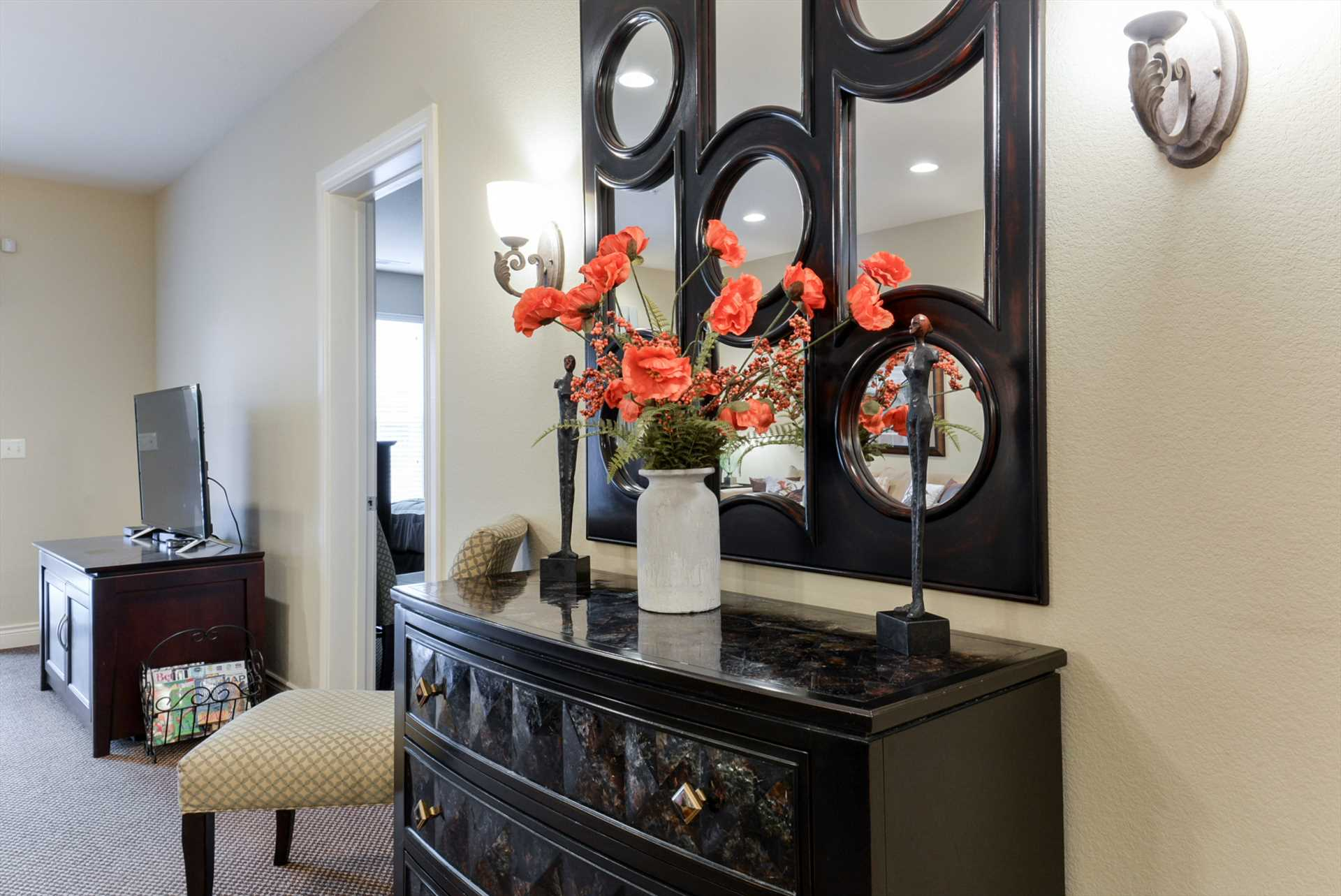 The charming decor is a highlight of this condo.
