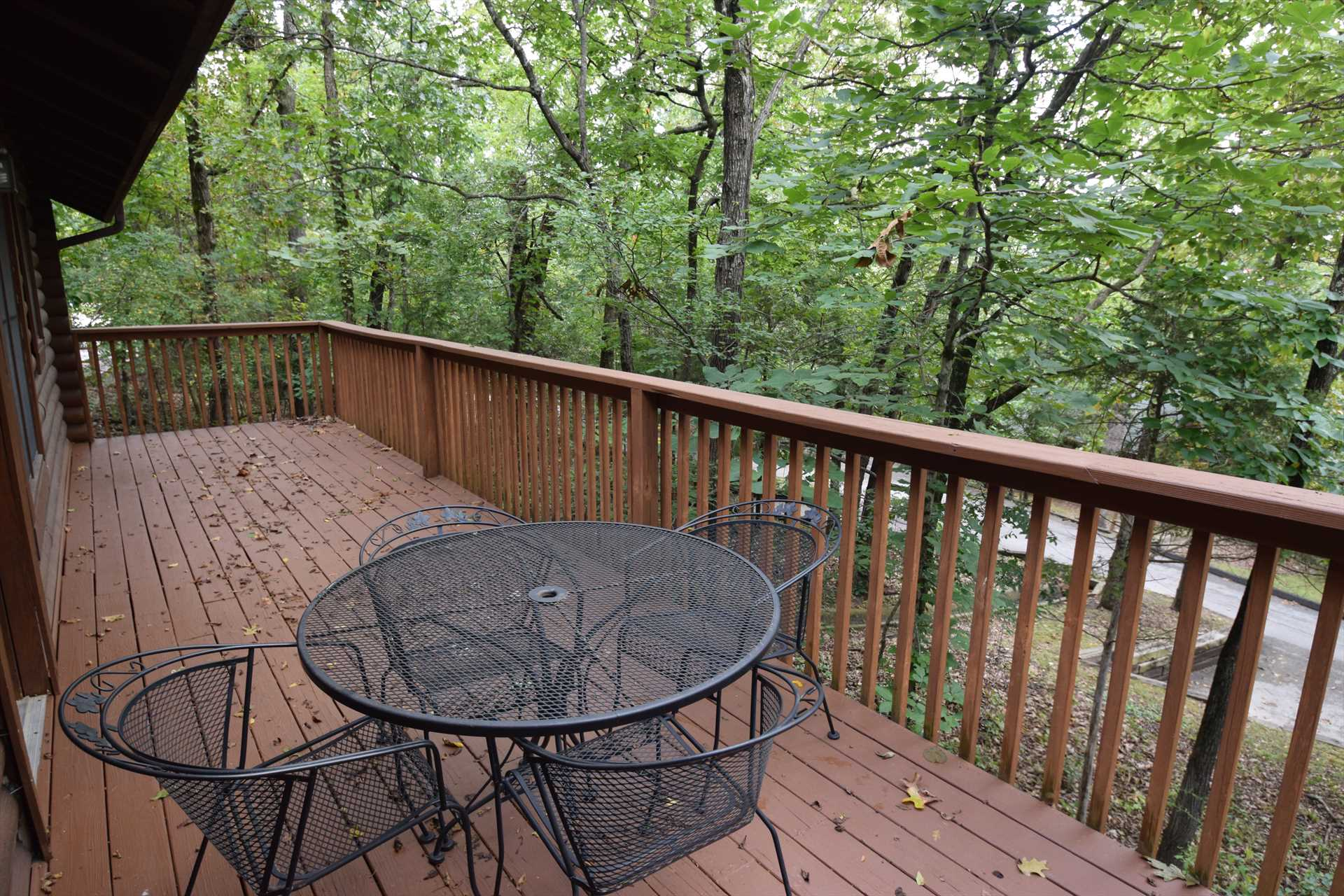 The huge deck out back is a great space for privacy.