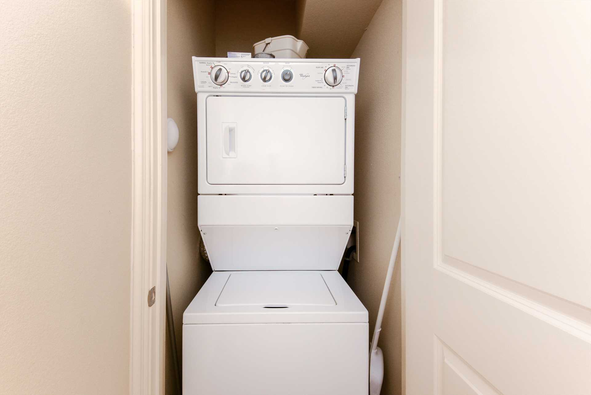 Laundry doesn't take a vacation - good thing this condo incl
