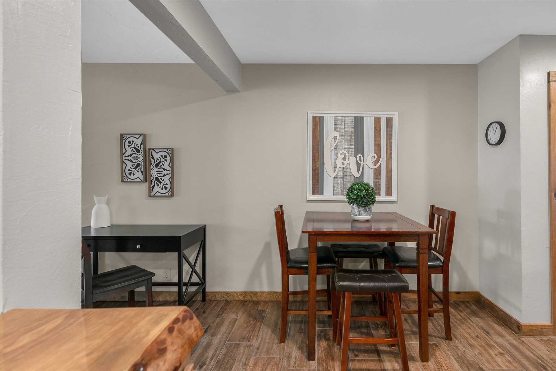 This condo is bright and open with updated furnishings.