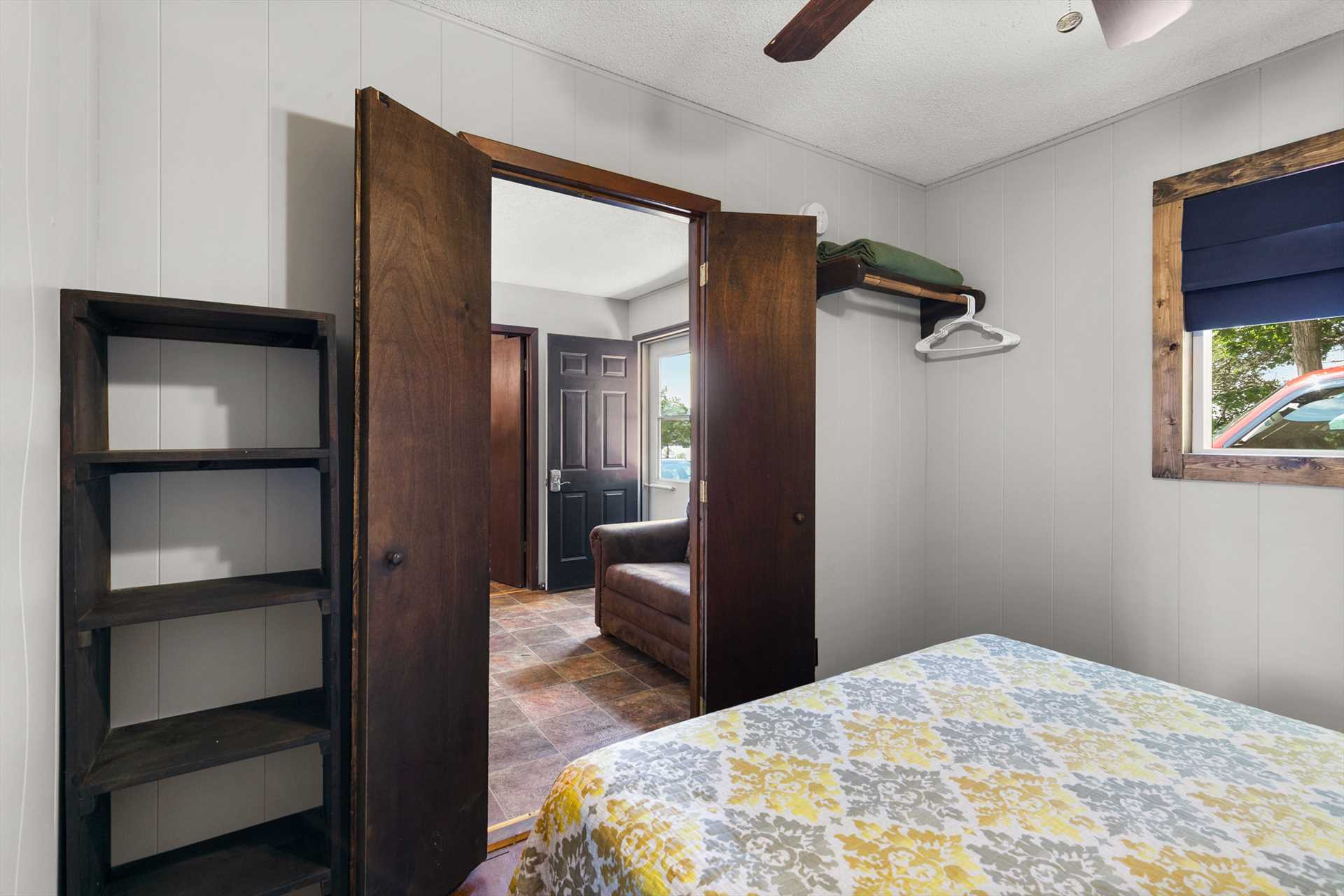 There is ample storage in the second bedroom. (Cabin 11)