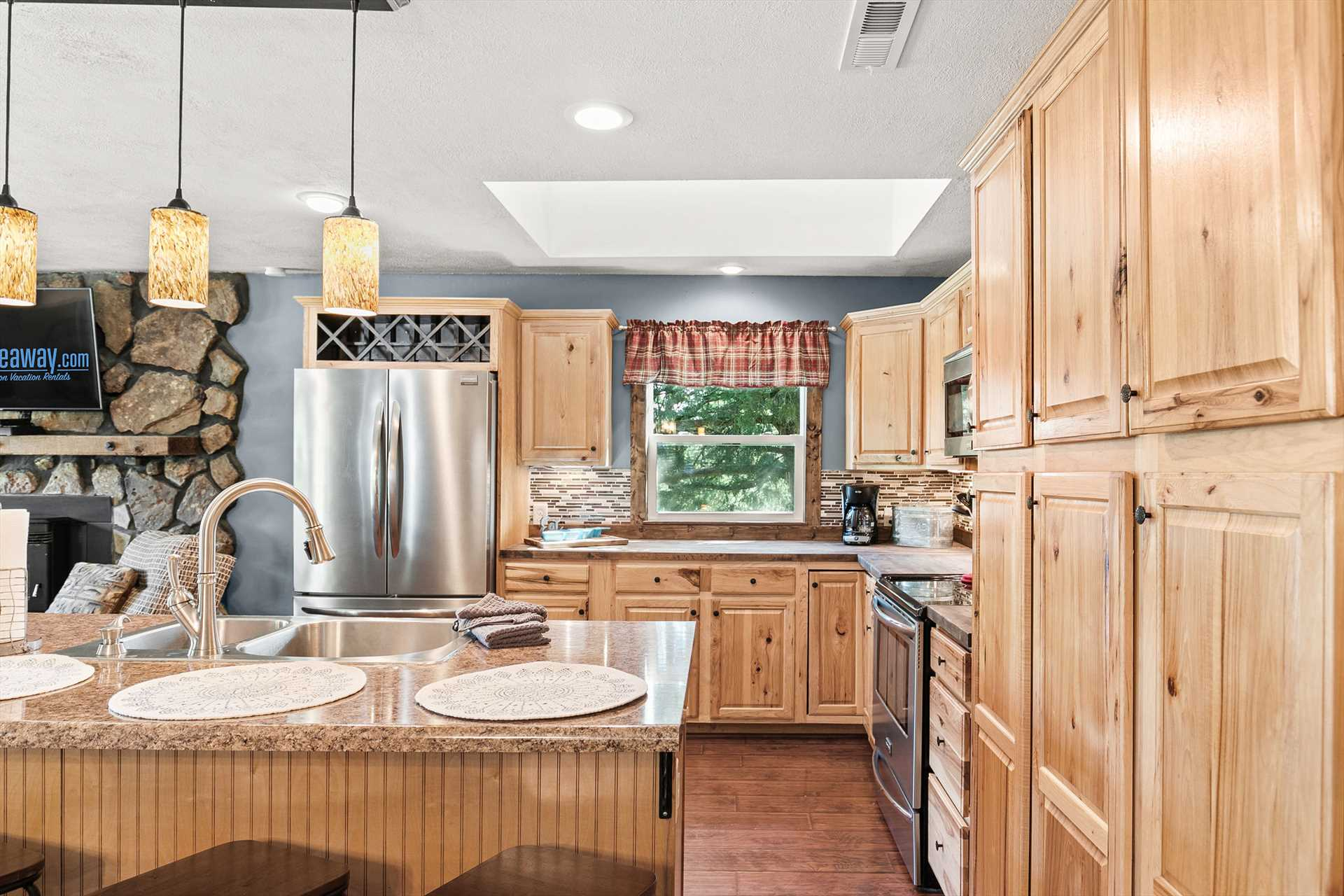 Not only is there plenty of storage and counter space, but t