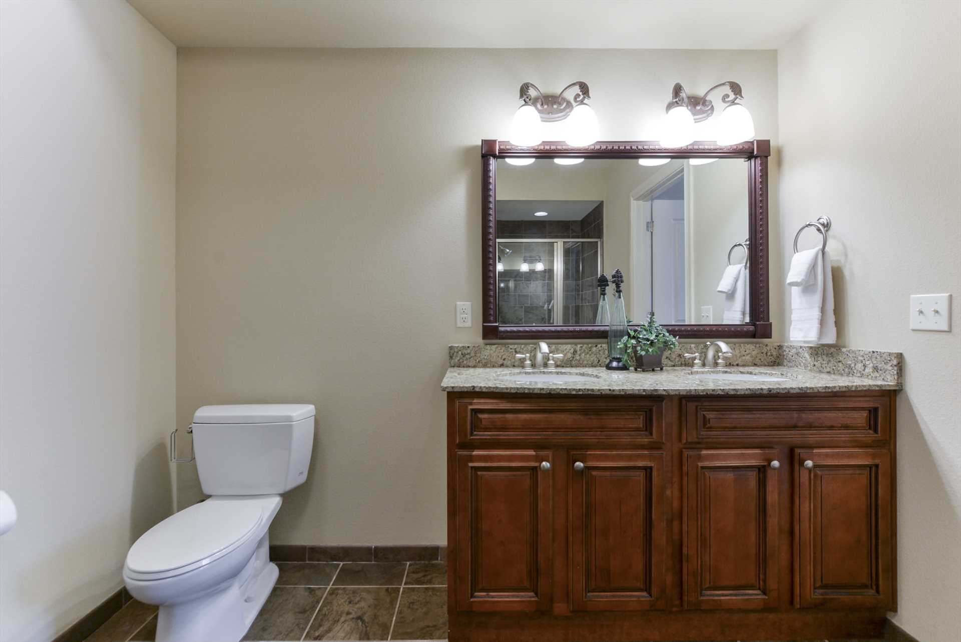 Double sinks helps everyone to get ready for their favorite