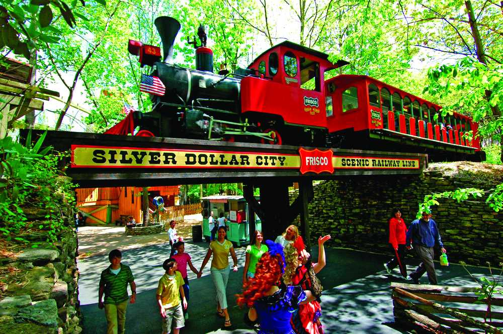 Silver Dollar City has something for all ages; the steam tra