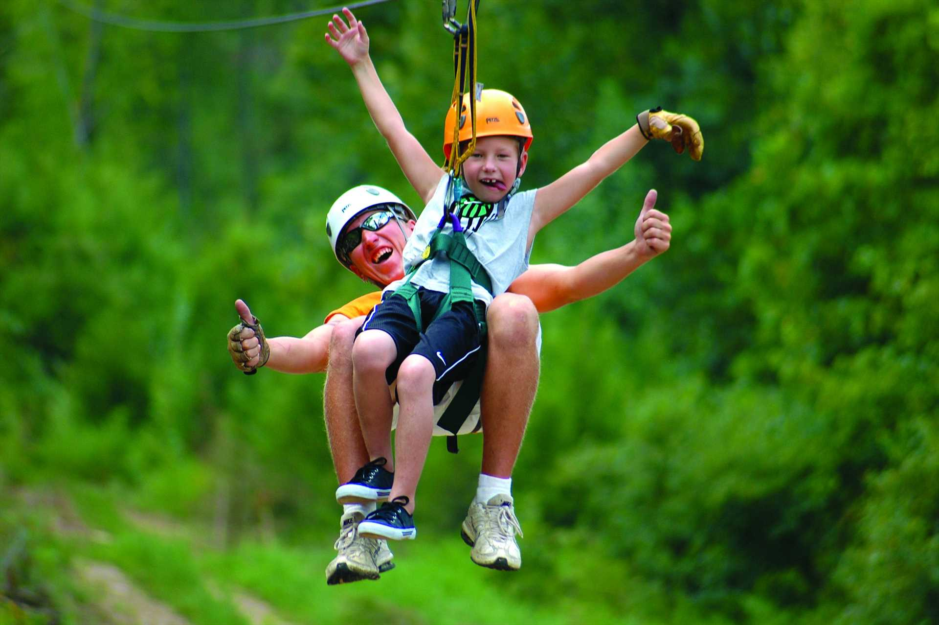 Lots of outdoor adventures including ziplining!