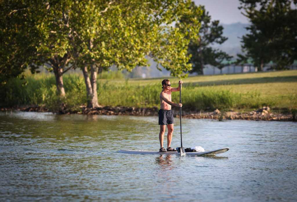 Table Rock or Taneycomo is a perfect spot to paddleboard.