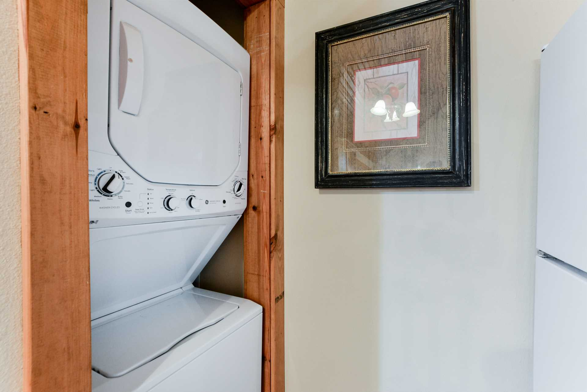 Laundry doesn't take a vacation - good thing the lodge inclu