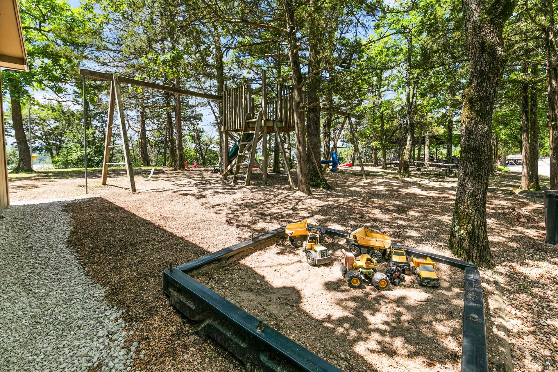 Younger guests love the playground.