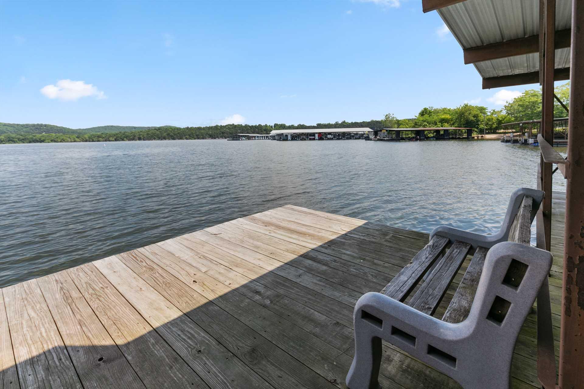 Sun bathe or swim off the dock in the quiet cove.