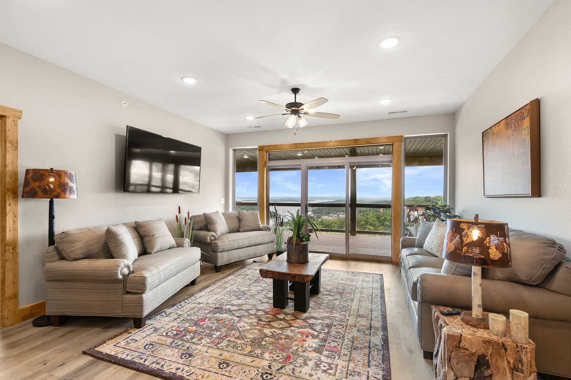 This second living space not only has amazing views, but als
