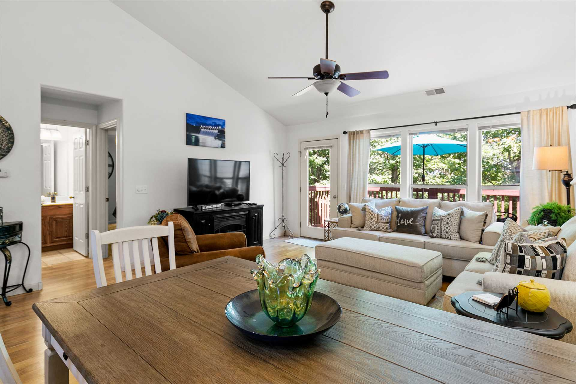 You will love the natural light from the large windows.