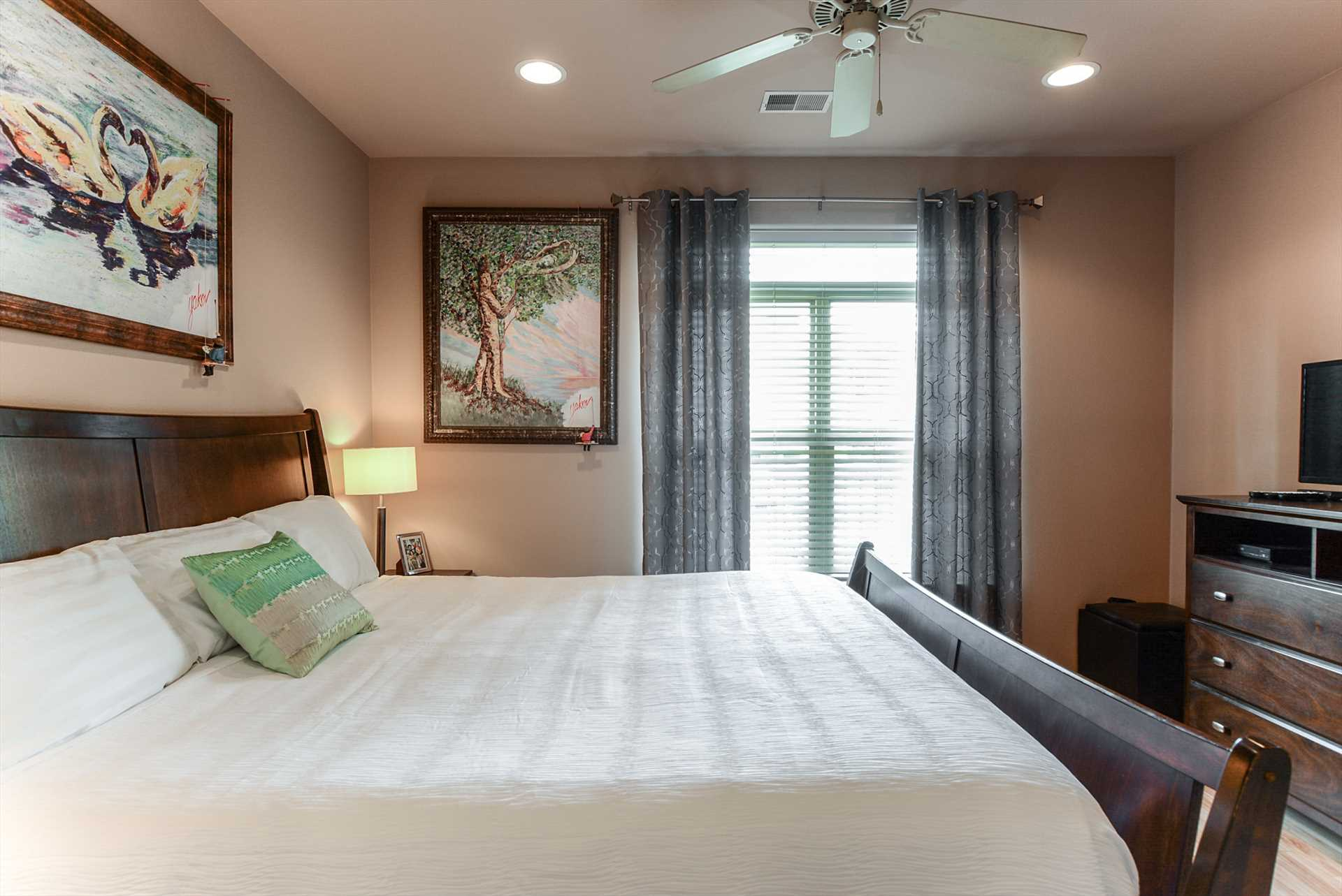 Each bedroom in this unit comes with a flat screen televisio