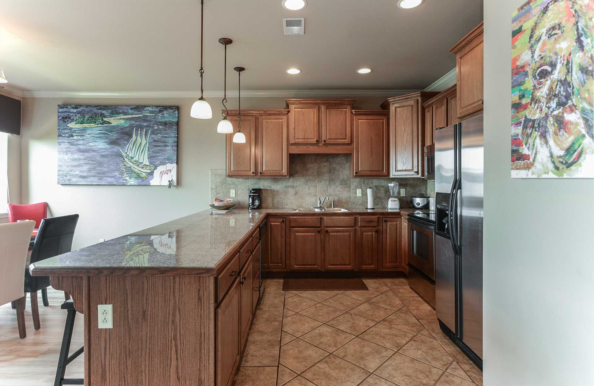 This kitchen comes fully-equipped with everything you need t